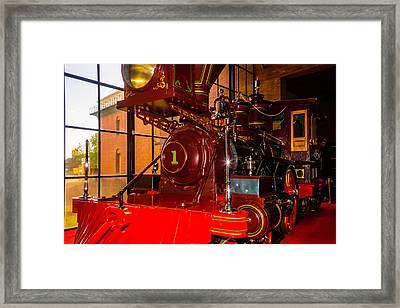 Number One C.p. Humtington Train Framed Print by Garry Gay