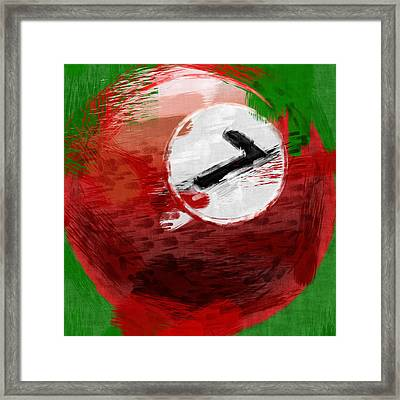 Number Seven Billiards Ball Abstract Framed Print