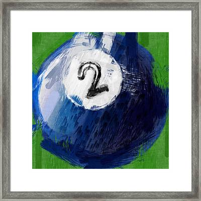 Number Two Billiards Ball Abstract Framed Print by David G Paul