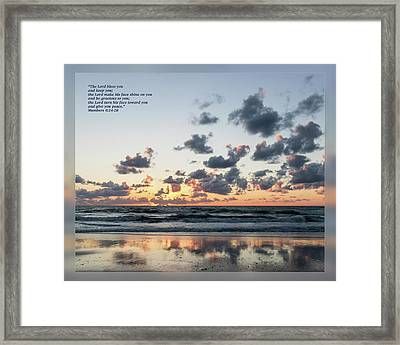 Numbers 6 24-26 Framed Print