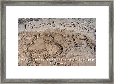 Numbers Twenty Three Nineteen Framed Print by D R TeesT