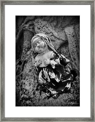 Nun Of Your Business Framed Print by Melissa Wyatt