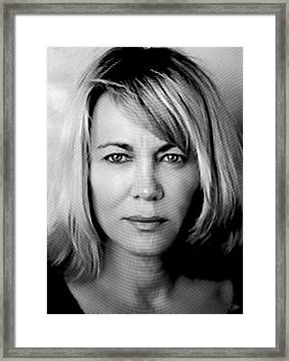 Nuria Hosta Ink Portrait Framed Print