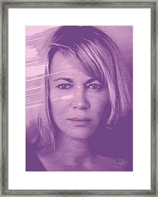 Nuria Hosta Portrait Framed Print