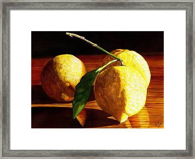 Nurse Beckys Lemons Framed Print