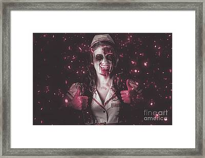 Nurse Operating In Falling Blood. Reign Of Terror Framed Print