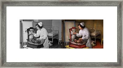 Nurse - The Pediatrics Ward 1943 - Side By Side Framed Print by Mike Savad