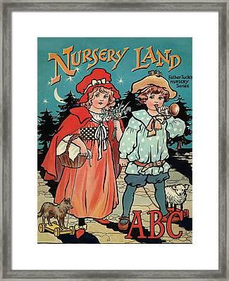 Nursery Land Abc Book Framed Print by Reynold Jay