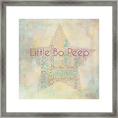 Nursery Rhymes Star Framed Print