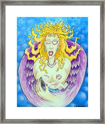 Nursing Angel Framed Print by Eddie Sargent