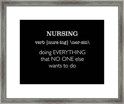 Nursing Framed Print by Misha Mayeur