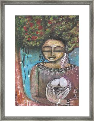 Framed Print featuring the mixed media Nurture Nature by Prerna Poojara