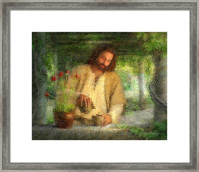 Nurtured By The Word Framed Print by Greg Olsen