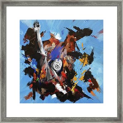 Nusrat Fateh Ali Khan 188 I Framed Print by Mawra Tahreem