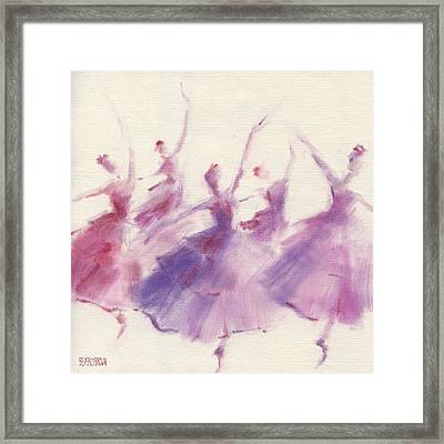 Nutcracker Ballet Waltz Of The Flowers Framed Print by Beverly Brown