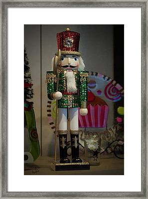 Nutcracker Christmas Deco Framed Print