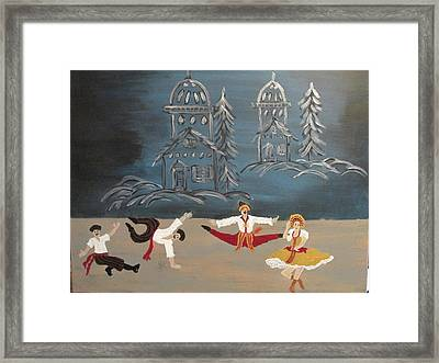Nutcrackers Dance Of Russian Cossacks Framed Print