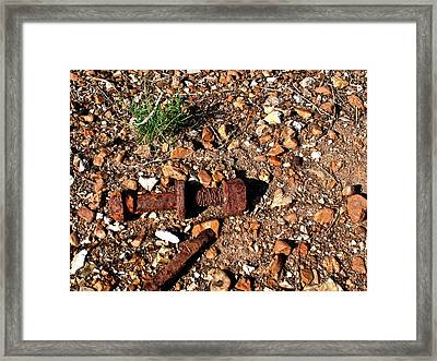 Nuts And Bolts Rusted Framed Print by Douglas Barnett