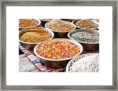 Nuts And Seeds Framed Print by Tom Gowanlock