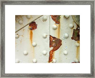 Nuts Bolts And Rust Framed Print by Richard Mansfield