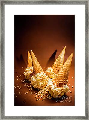 Nuts Over Ice-cream. Birthday Party Background Framed Print by Jorgo Photography - Wall Art Gallery