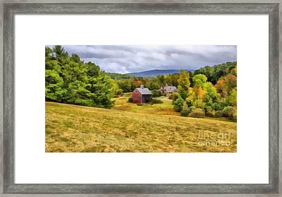 Nutt Farm Etna Hanover New Hampshire Framed Print by Edward Fielding