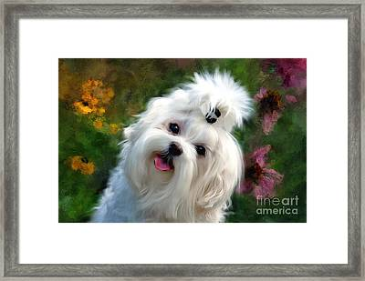 Nuttin But Love Painterly Framed Print