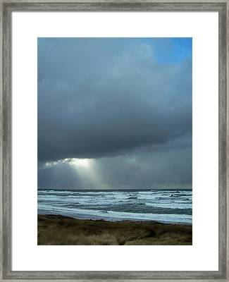 N.w. Beach Rays Framed Print