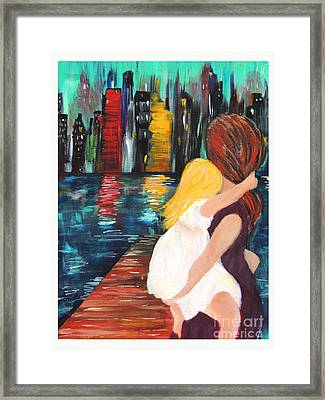Ny City Framed Print by Debbie Hall