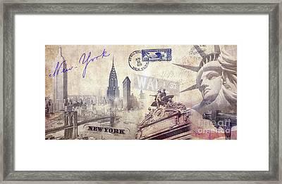 Ny City Framed Print