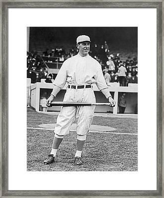 Ny Giants' Fred Snodgrass Framed Print by Underwood Archives