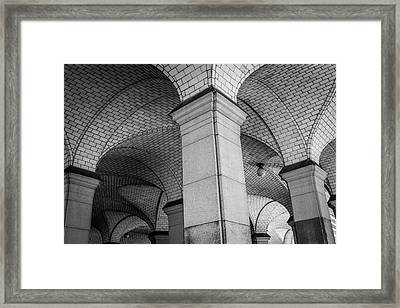 Ny Municipal Building Ceiling Framed Print by Mike Burgquist