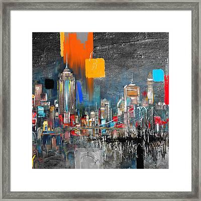 Ny Skyline 198 2  Framed Print by Mawra Tahreem