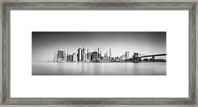 Ny Skyline Framed Print