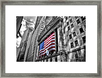 Ny Stock Exchange Framed Print by Alessandro Giorgi Art Photography