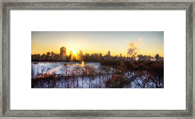 Ny Winter Panaroma Framed Print by Ariane Moshayedi
