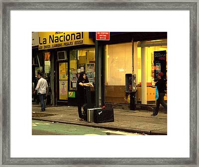 Nybr.55 Framed Print by Ljubisa Milisavljevic