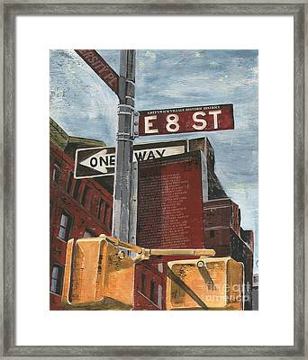 Nyc 8th Street Framed Print by Debbie DeWitt
