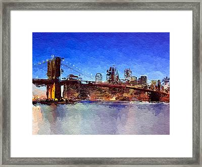 Nyc Abstract  Framed Print