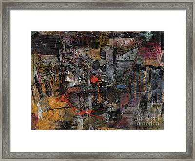 Nyc Abstract Framed Print by Robert Anderson