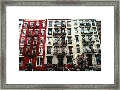 Nyc Apartment Color 16 Framed Print by Scott Kelley