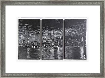 Nyc At Night Original Framed Print