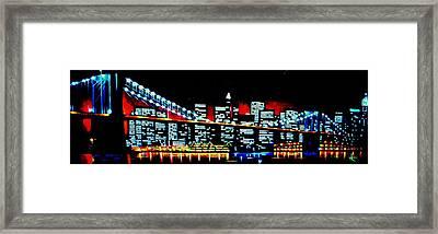 Nyc Black Light Framed Print