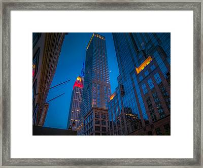 Nyc Blues Framed Print by June Marie Sobrito
