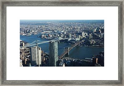 Framed Print featuring the photograph Nyc Bridges by Matthew Bamberg