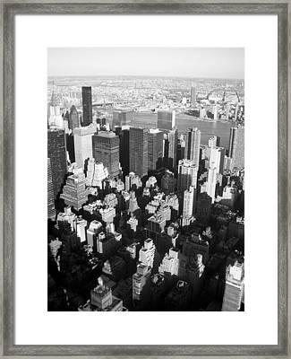 Nyc Bw Framed Print