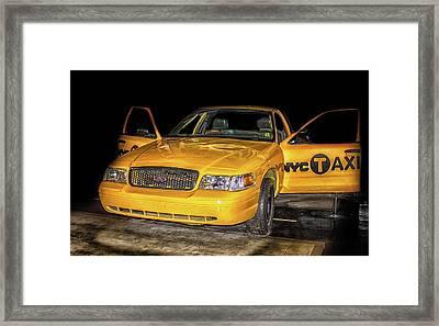 Nyc Cab Framed Print