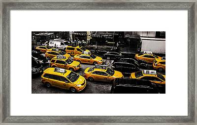 Nyc Cabs Framed Print