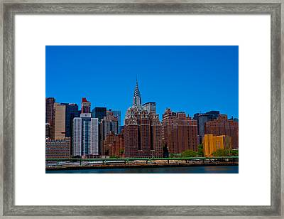 Nyc Chrysler Building  Framed Print by Arthur Sa