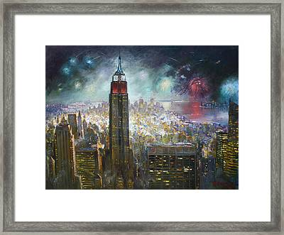 Nyc. Empire State Building Framed Print